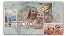 پروژه افترافکت اسلایدشو با پخش جوهر Perfect Ink Memories Slideshow