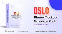 پروژه افترافکت موکاپ گوشی Phone Mockup Graphics Pack