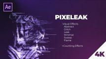 پروژه افترافکت ساخت افکت های پیکسلی Pixelleak Effects Pack