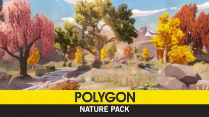 مجموعه مدل سه بعدی اجزای طبیعت Nature Pack Low Poly
