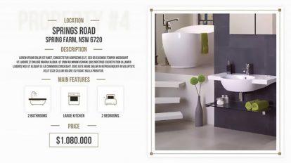 پروژه افترافکت تیزر تبلیغاتی مشاور املاک Minimal Real Estate Slides