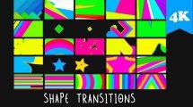 مجموعه فوتیج ترانزیشن شکل کارتونی Shape Transitions
