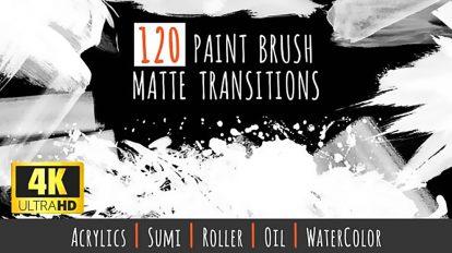 مجموعه فوتیج ترانزیشن مت با براش نقاشی Paint Brush Matte Transitions