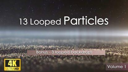 مجموعه فوتیج پارتیکلی لوپ Looped Particles 4K