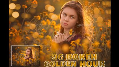 مجموعه تصاویر افکت نور بوکه طلایی Golden Bokeh Ovelays