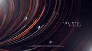 پروژه افترافکت نمایش عناوین با خطوط انتزاعی Abstract Lines Titles