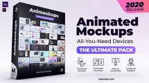 پروژه افترافکت مجموعه انیمیشن موکاپ Animated Mockups Ultimate Pack