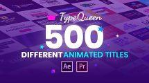 پروژه افترافکت مجموعه عناوین متحرک TypeQueen Animated Title