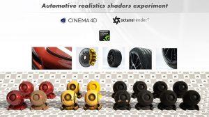 مجموعه متریال واقعگرایانه خودرو برای اکتان رندر Automotive Realistic Shaders