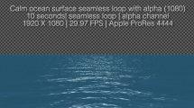 فوتیج سطح آرام دریا Calm Ocean Surface