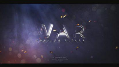 پروژه افترافکت تیزر تریلر سینمایی Cinematic Teaser