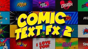 پروژه افترافکت مجموعه عناوین کمیک Comic Text FX 2