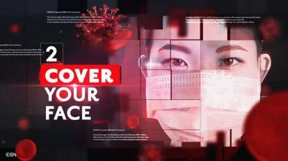 پروژه افترافکت افتتاحیه خبری ویروس کرونا Corona Virus News Opener