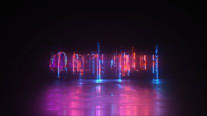 پروژه افترافکت نمایش لوگو گلیچ نئونی Cyber Glitch Neon Logo Reveal