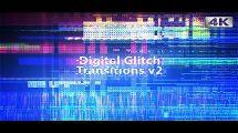 مجموعه فوتیج ترانزیشن گلیچ Digital Glitch Transitions