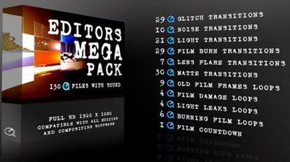 مجموعه فوتیج افکت های فیلم Editors Mega Pack