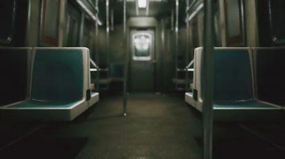 فوتیج قطار مترو بدون مسافر در حال حرکت
