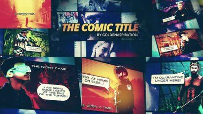 پروژه افترافکت افتتاحیه کمیک Fast Comic Opener
