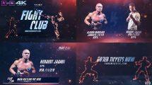 پروژه افترافکت برودکست باشگاه بوکس Fight Club Broadcast Pack