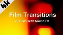 مجموعه فوتیج ترانزیشن فیلم Film Transitions