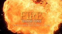 مجموعه فوتیج ترانزیشن آتش Fire Transition