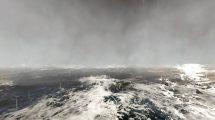 فوتیج حرکت روی اقیانوس طوفانی Flying Over Stormy Ocean