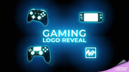 پروژه افترافکت نمایش لوگو گیمینگ Gaming Logo Reveal