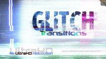 مجموعه فوتیج ترانزیشن گلیچ Glitch Transitions 4K