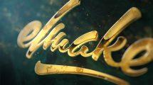 پروژه افترافکت نمایش لوگو طلایی Gold Epic Logo