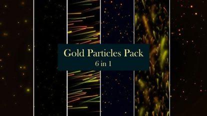 مجموعه فوتیج پارتیکل طلایی Gold Particles 6 in 1