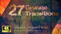 مجموعه فوتیج ترانزیشن گرانج Grunge Transitions Pack