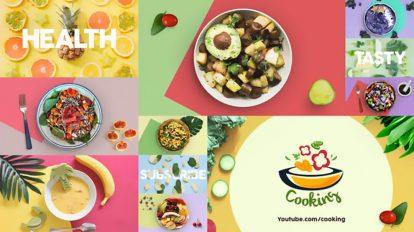 پروژه افترافکت تیزر تبلیغاتی غذا Health Food Intro