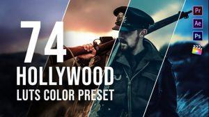 مجموعه پریست ارتقا رنگ Hollywood LUT Color Grading Pack