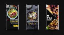 پروژه افترافکت مجموعه استوری اینستاگرام غذا Instagram Food