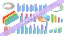 پروژه افترافکت مجموعه اینفوگرافیک ایزومتریک Isometric Infographics Pack