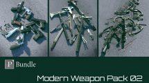 مجموعه مدل سه بعدی سلاح Modern Weapon Pack Bundle 02