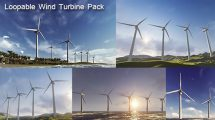 مجموعه فوتیج توربین بادی Wind Turbine Pack