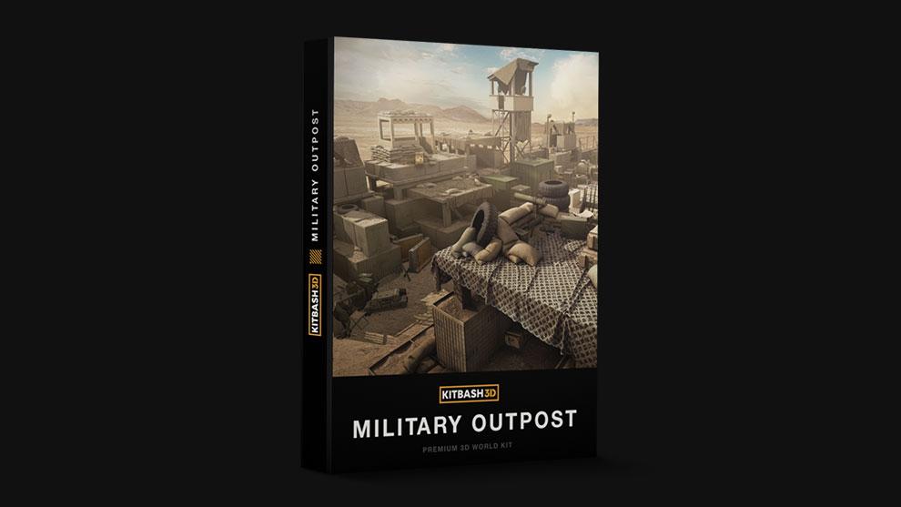 مجموعه مدل سه بعدی اجزای نظامی Kitbash3D Military Outpost