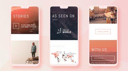 پروژه افترافکت تیزر تبلیغاتی اپلیکیشن Multiscreen App Promo