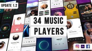 پروژه افترافکت ویژوالایزر موزیک برای اینستاگرام Music Visulaization Players