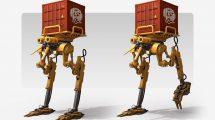 مدل سه بعدی ربات صنعتی MVR5-E Industrial Robot