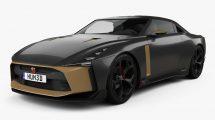مدل سه بعدی خودرو سواری نیسان Nissan GT-R50 2018