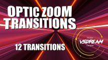 مجموعه پریست افترافکت ترانزیشن اپتیک زوم Optic Zoom Transitions