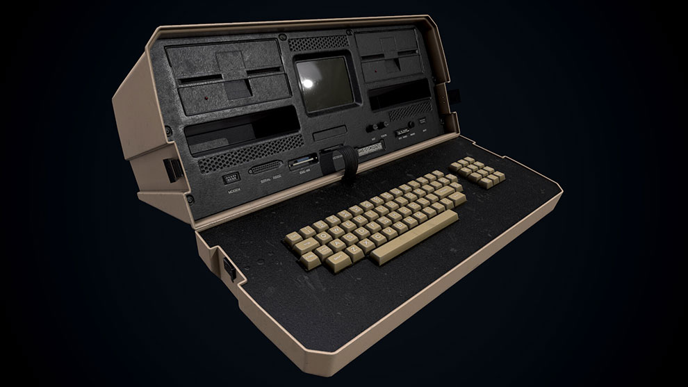 مدل سه بعدی کامپیوتر پرتابل قدیمی Osborne 1 Computer