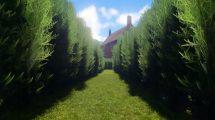 فوتیج حرکت از میان یک پرچین Passing Through Hedge