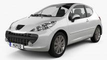 مدل سه بعدی خودرو پژو Peugeot 207 2006