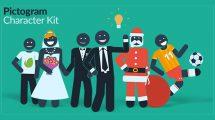 پروژه افترافکت انیمیشن کاراکتر پیکتوگرام Pictogram Character Kit