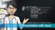 پروژه افترافکت پرزنتیشن با لباس فرم پزشکی Presentation with Jason