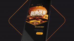 پروژه افترافکت تیزر تبلیغاتی اپلیکیشن رستوران Restaurant Menu Opener