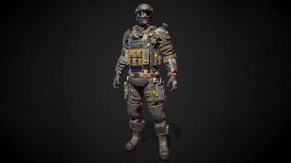 مدل سه بعدی کاراکتر نظامی Shock Stormtrooper